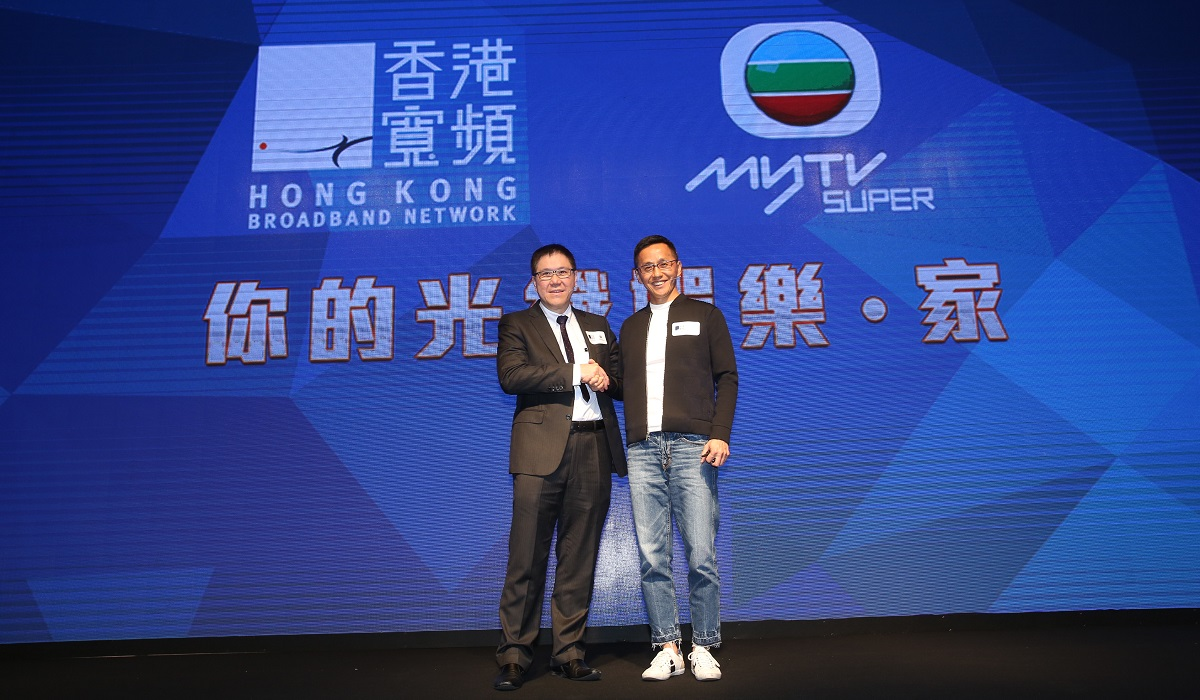 HKBN CEO and Co-Owner William Yeung and TVB Executive Director and General Manager Mr. S. K. Cheong